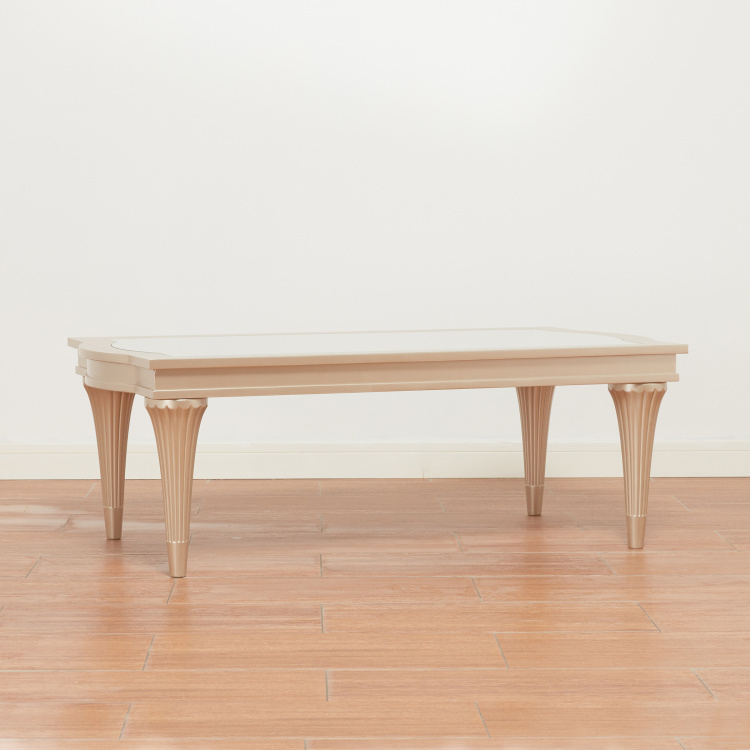 Petunia Coffee Table with Pine Wood Legs