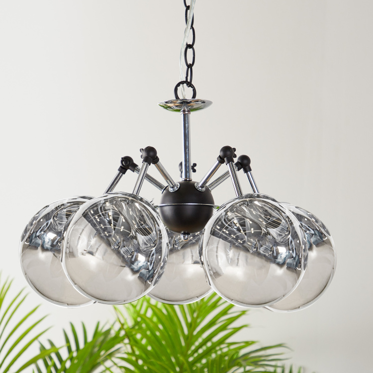Carthage 5-Lights Glass Ceiling Lamp