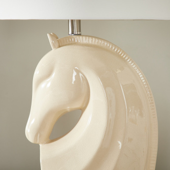Powell Ceramic Horse Head Shaped Table Lamp - 71 cms