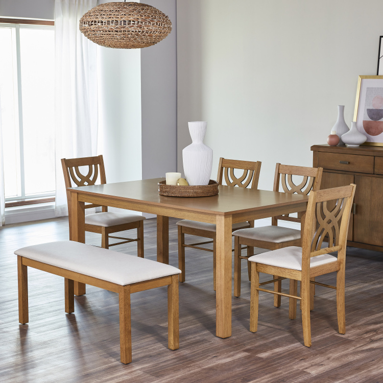 Colton 6-Seater Rectangular Dining Table Set