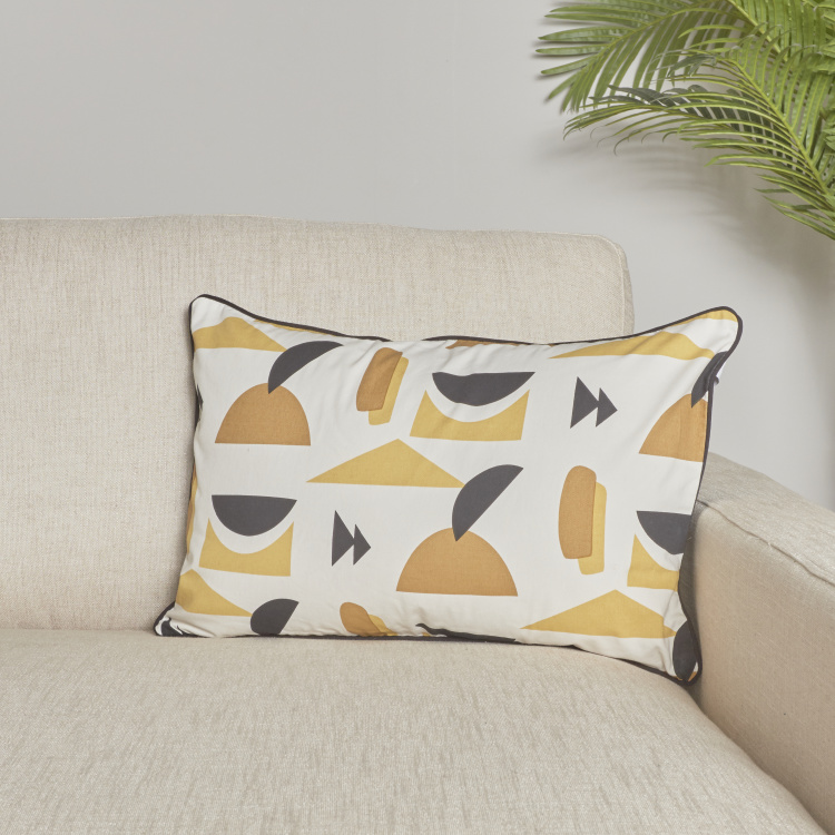 Organic Lussio Printed Cushion Cover - 65x40 cms