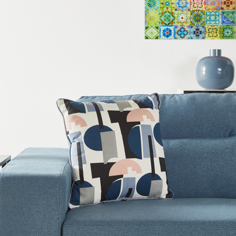 Organic Lussio Geometric Filled Cushion - 45x45 cms