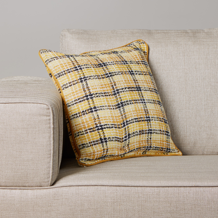 Organic Tweed Check Cushion Cover - 45x45 cms