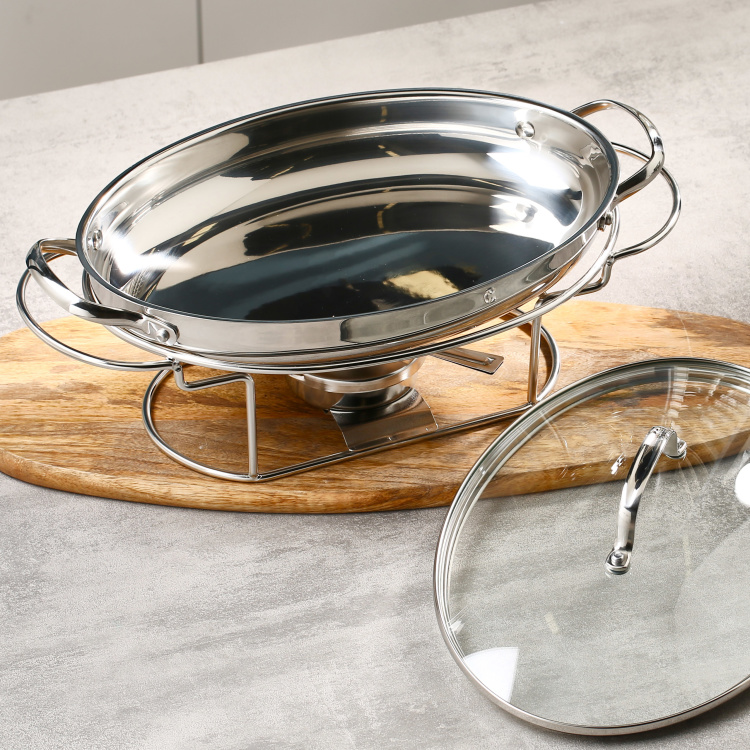 Clearline Oval Buffet Server - 34 cms