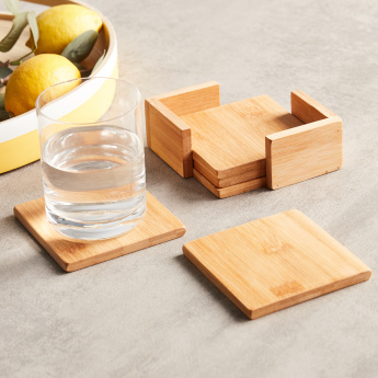 Vonschef 4-Piece Coaster with Holder