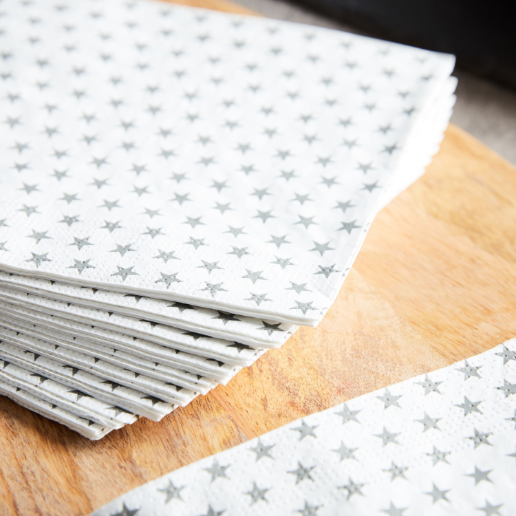 Star Printed Tissue Paper - Set of 20