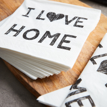 I Love Home Printed Tissue Paper - Set of 20