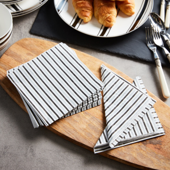 Striped Printed Tissue Paper - Set of 20