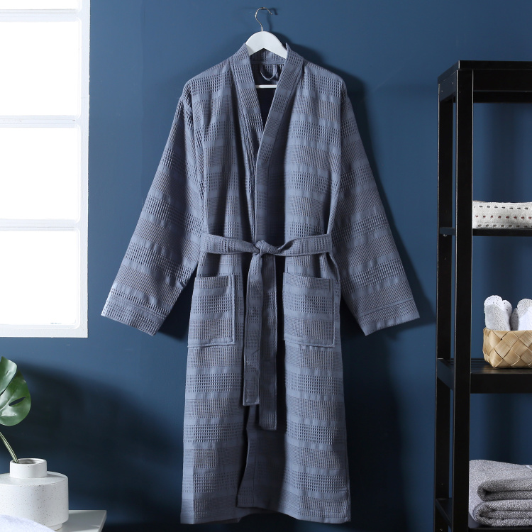 Infinity Patterned Bathrobe with Long Sleeves - Medium