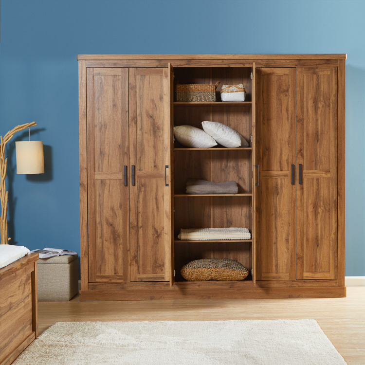 Colton 6-Door Wardrobe with Mirrors