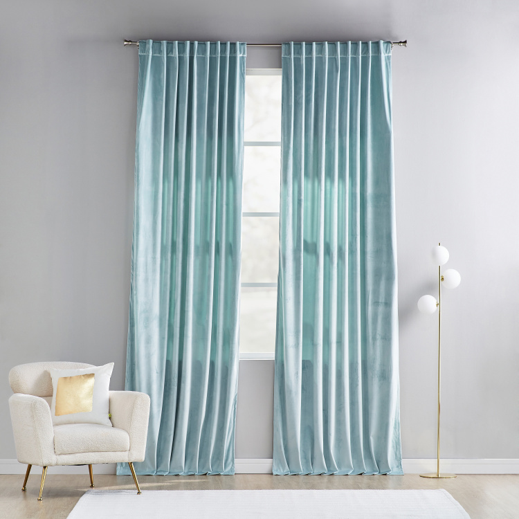 Sheldon Blackout Curtain Pair - 140x300 cm