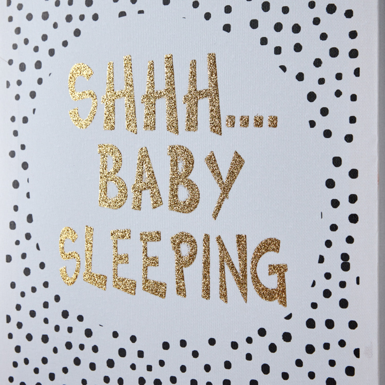 Shh Baby Sleeping Canvas Print Wall Art