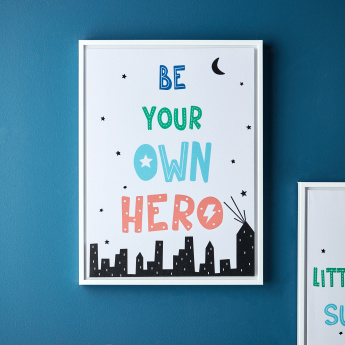 Keanu Be Your Own Superhero Canvas Print Wall Art