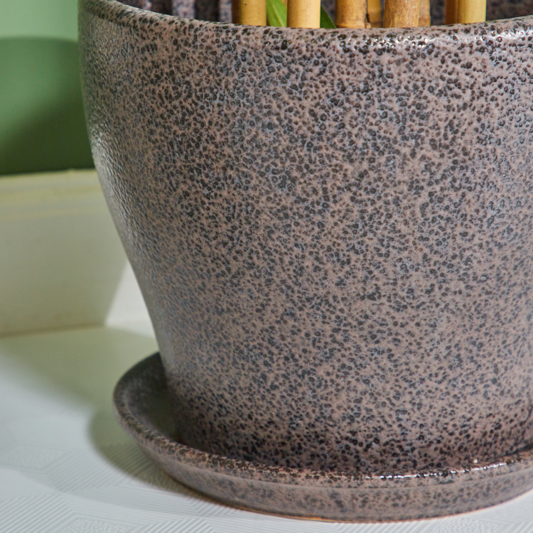 Murray Ceramic Planter with Saucer