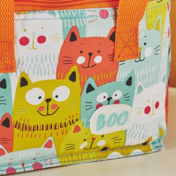 Saco Lanche Boo Cats Print Lunch Bag