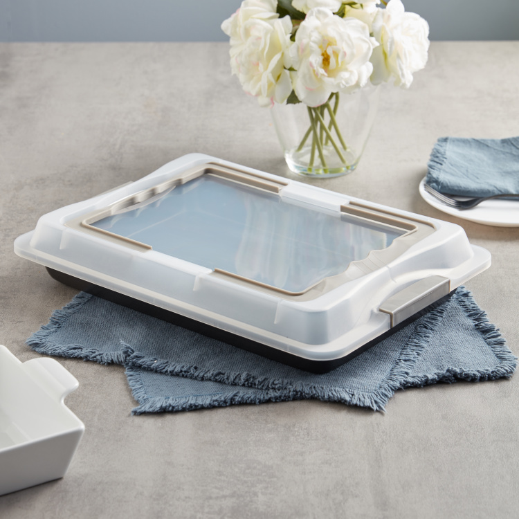 Bake It Baking Tray with Plastic Lid