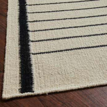 Solace Croft Striped Textured Rug - 160x230 cms