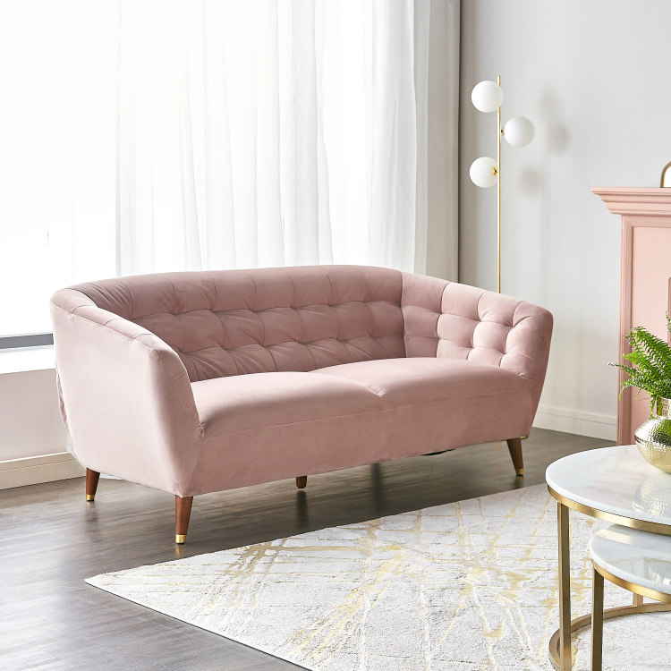 Isabel 3-seater Velvet Sofa