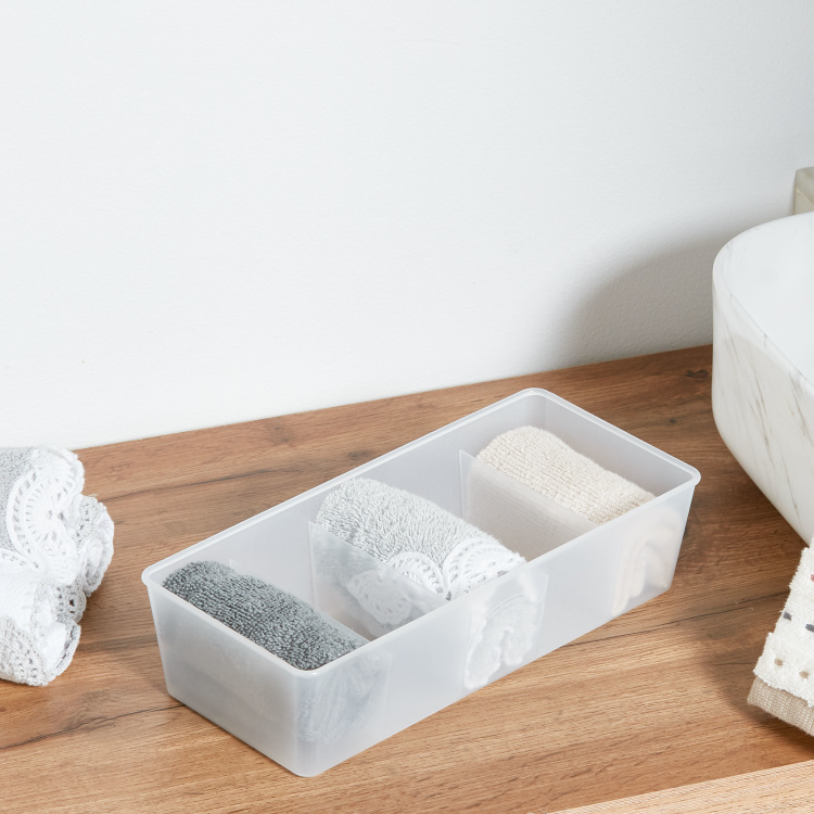 Frosted 5-Section Drawer Organizer