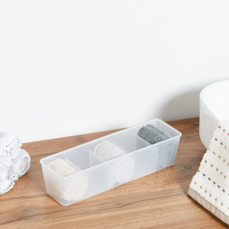 Frosted 5 Section Drawer Organizer