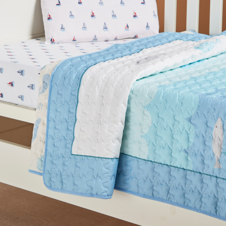 Gideon Whale Quilted Bedspread - 100x170 cm