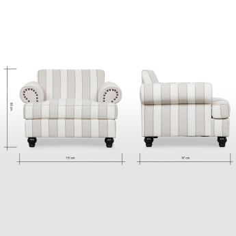 1 Seater Armchair With Ter Cushions