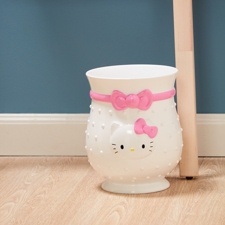 Hello Kitty Embossed Polyresin Waste Bin