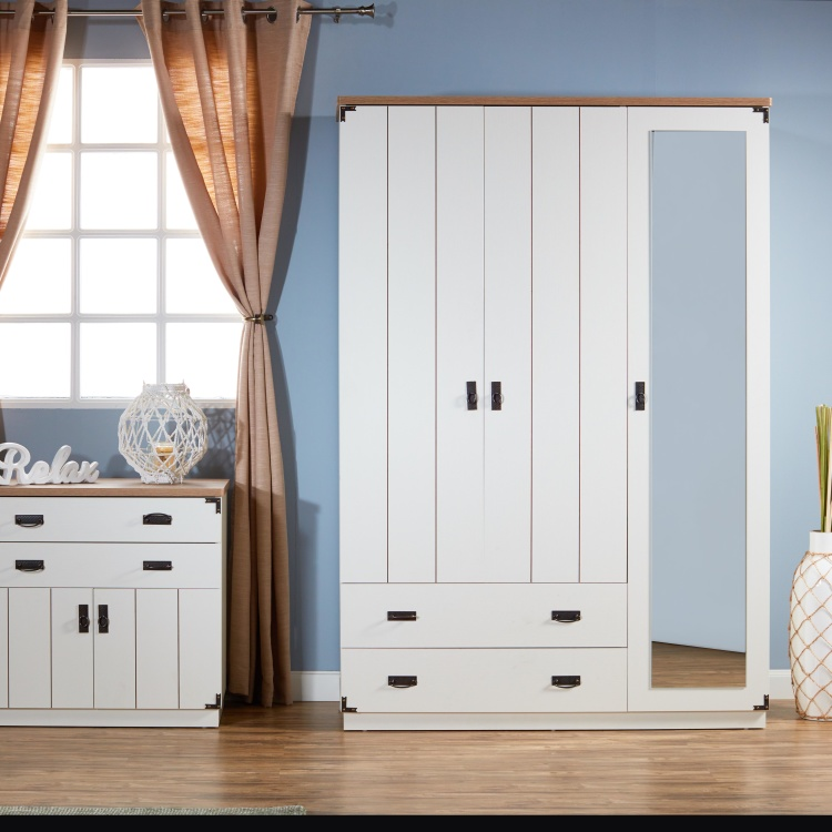 Leon 3-Door Wardrobe with 2-Drawers