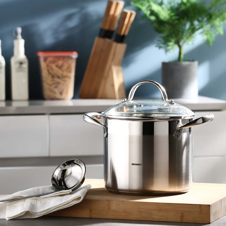 Bergner SS Gourmet Stockpot with Lid - 5.2 L