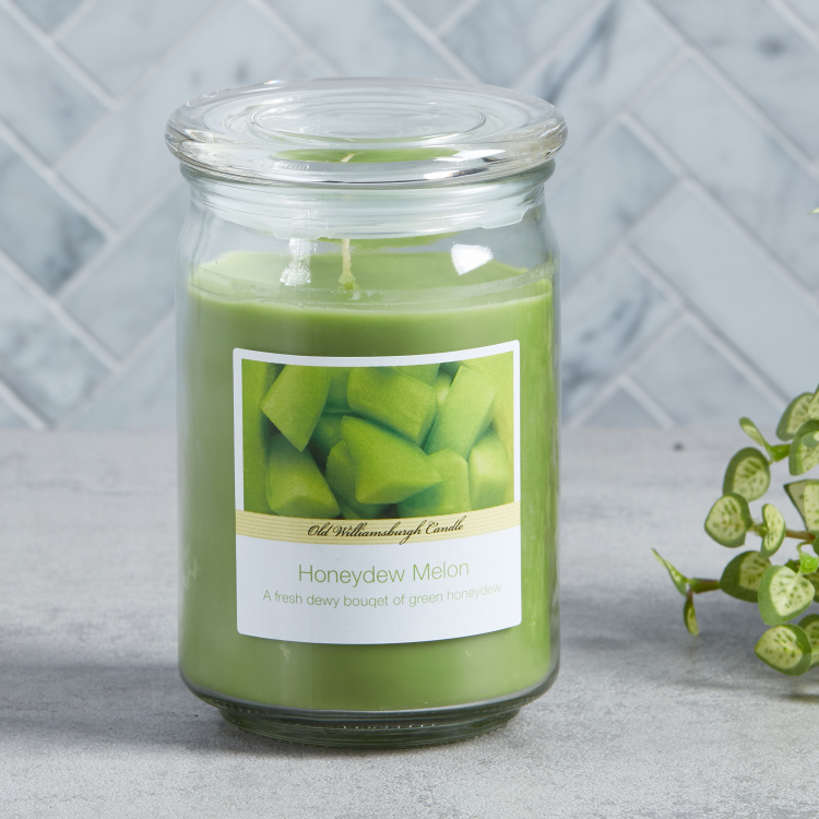 OWB Honeydew Melon Scented Apothecary Jar Candle