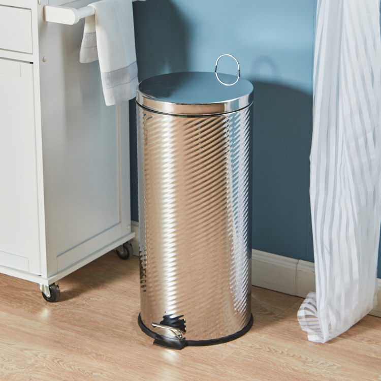 Ruth Textured Step Bin - 30 L