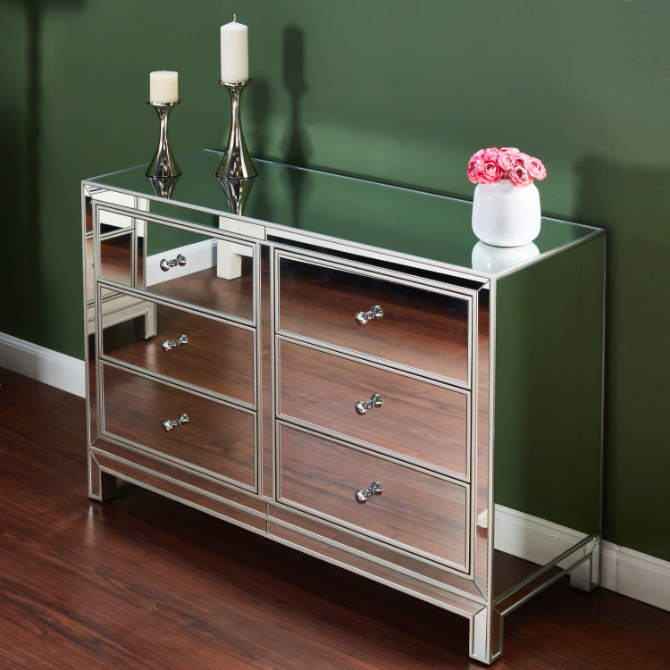 Maven 6 Drawer Dresser Clear Mirror