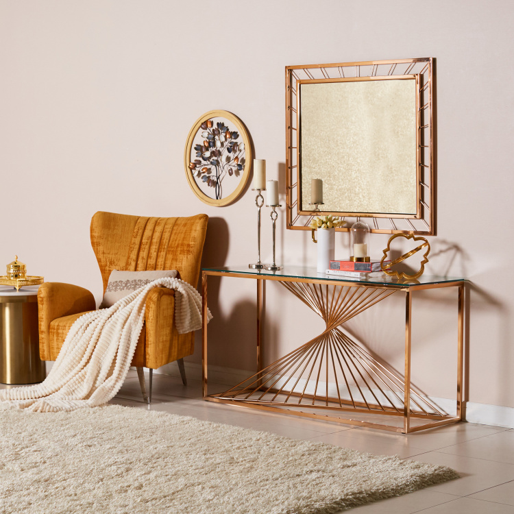 Alfie Console Table with Mirror