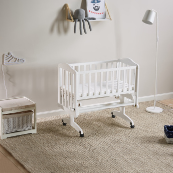 Little Star Swinging Cradle with Mattress - 97x51x86 cm
