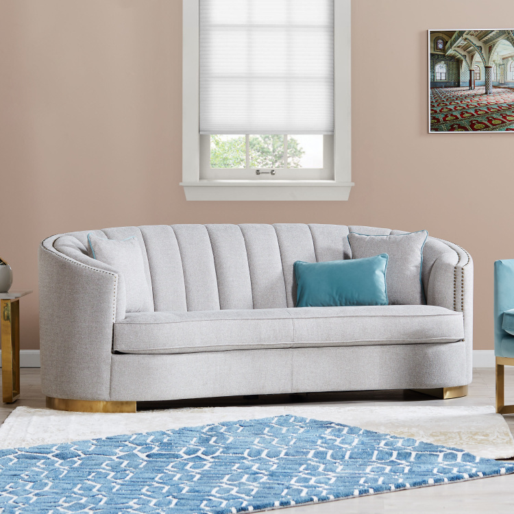 Smith-New 3-Seater Fabric Sofa