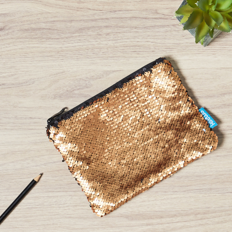 Sequinned Small Pencil Case