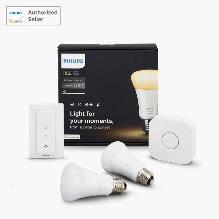Philips Hue White Ambiance LED Smart Bulb - Starter Kit - E27 806 lumen