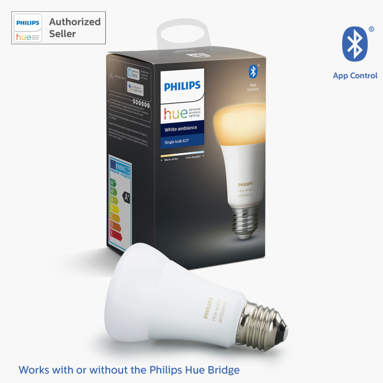 Philips Hue White Ambiance LED Smart Bulb - E27 806 lumen